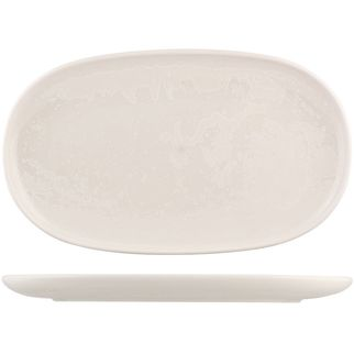 Picture of Moda Porcelain Snow Oval Coupe Plate 355x215mm