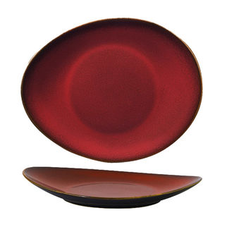 Picture of Luzerne Oval Plate 290 x 245mm Crimson