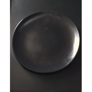 Picture of Santo Alessi Organics Dinner Plate Satin Black 275 x 265mm