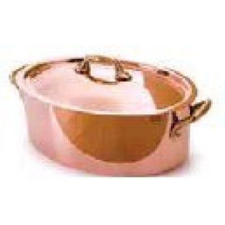 Picture of Oval Casserole 2pcopper 160x80 1100ml W Lid Series 5200