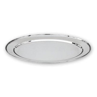 Picture of Oval Platter Stainless Steel Heavy Duty 300mm