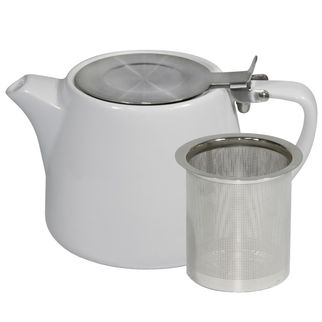 Picture of Brew White Stackable Teapot 500ml with SS Infuser and Lid