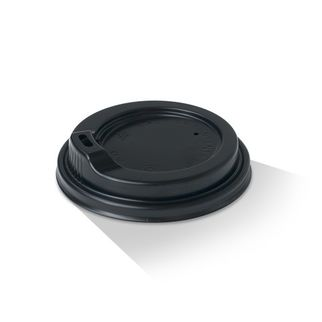 Picture of Plastic Lid with spout 12oz & 16oz Black