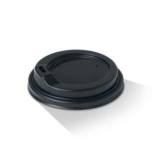 Picture of Plastic Lid with spout 8oz Black