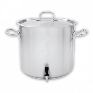 Picture of Pujadas Stockpot 18/10 With Cover And Tap 33600ml