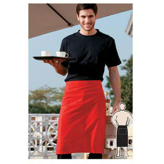 Picture of Pv Three Quarter Apron With Pocket Black