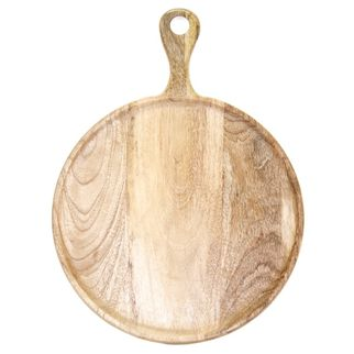 Picture of Mango Wood Serving Board Round w/HDL 300x400x15mm NATURAL