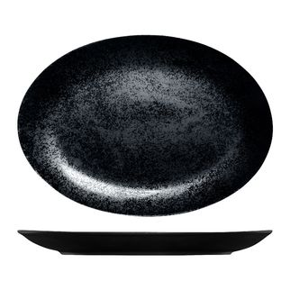 Picture of RAK Karbon Oval Plate 360 x 270mm Black