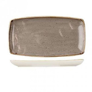 Picture of Rectangular Plate 350 X 185mm Peppercorn Grey