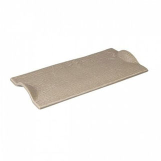 Picture of Rectangular Plate With Handle Beige 310mm