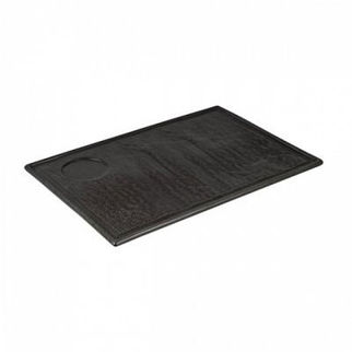 Picture of Rectangular Plate With Well Charcoal 330mm
