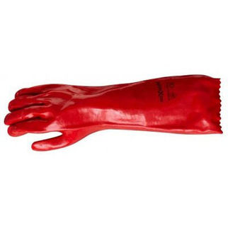 Picture of Red PVC Safety Glove Pair