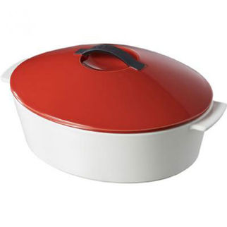 Picture of Revol Revolution Oval Casserole With Lid Yellow