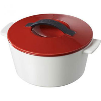 Picture of Revol Revolution Round Casserole Dish With Lid Red