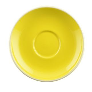 Picture of Rockingham Long Black Saucer Yellow
