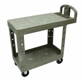 Picture of Rubbermaid Hd Utility Cart With Flat Shelf 962mm Beige