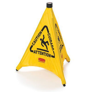 Picture of Rubbermaid Popup Safety Cone 'caution' Wet Floor Symbol 508mm 533mm