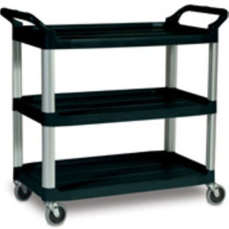 Picture of Rubbermaid Xtra Utility Cart Open Sided Black