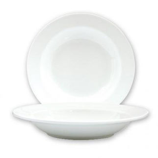 Picture of Ryner Bone China Soup Pasta Plate Wide Rim 300mm