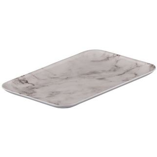 Picture of Ryner Melamine Coupe Platter White Marble 290*200mm