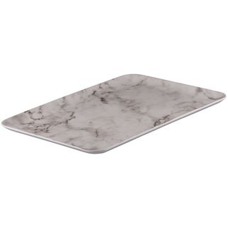 Picture of Ryner Melamine Coupe Platter White Marble 395*285mm