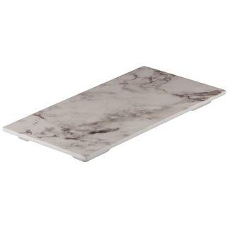 Picture of Ryner Melamine Platter White Marble 325*175mm
