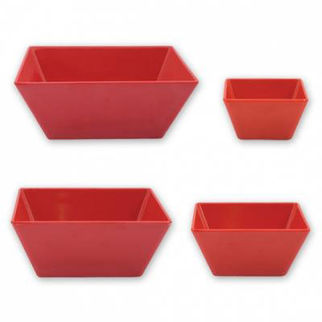 Picture of Ryner Melamine Square Bowl Red 180x180mm