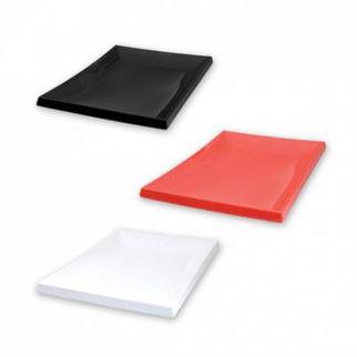 Picture of Ryner Melamine Sushi Platter 200x140mm  red