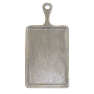 Picture of Mango Wood Serving Board Rectangular Grey with Handle 260 x 180mm