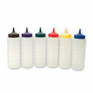 Picture of Sauce Bottle Coloured Lids 750ml brown