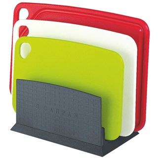 Picture of Scanpan Coloured Cutting Boards with Stand 4pc Set