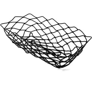 Picture of Serving Basket Rectangular Black Wire