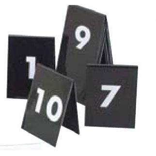 Picture of Set Of Table Nos 1 To 10 White Text On Black 75x55mm