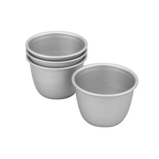 Picture of Silver Anodised Pudding Set of 4 75x60mm