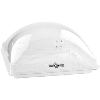 Picture of Square Dome with Hinged Fixed Based 350x350mm