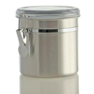 Picture of Stainless Steel Canister W Acrylic Lid 12cm