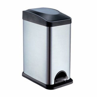 Picture of Stainless Steel Rectangular Pedal Bin 15L