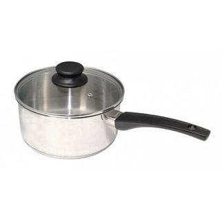 Picture of Stainless Steel Saucepan 20cm with Glass Lid