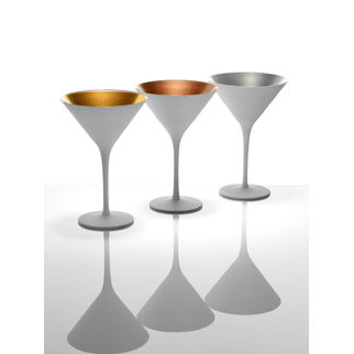 Picture of Stolzle Olympic Cocktail Glass Matt White/Gold 240ml