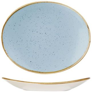 Picture of Stonecast Oval Plate 192mm Duck Egg Blue