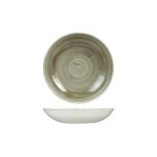 Picture of Stonecast Patina Burnished Green Round Coupe Bowl 182mm