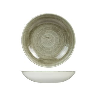 Picture of Stonecast Patina Burnished Green Round Coupe Bowl 248mm