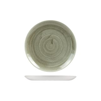 Picture of Stonecast Patina Burnished Green Round Coupe Plate 217mm