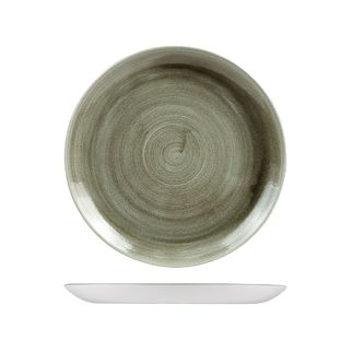 Picture of Stonecast Patina Burnished Green Round Coupe Plate 260mm
