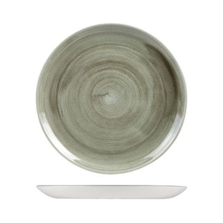 Picture of Stonecast Patina Burnished Green Round Coupe Plate 288mm