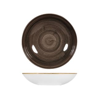 Picture of Stonecast Patina Iron Black Round Coupe Bowl 248mm