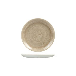 Picture of Stonecast Patina Taupe Round Coupe Plate 165mm