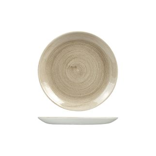 Picture of Stonecast Patina Taupe Round Coupe Plate 217mm