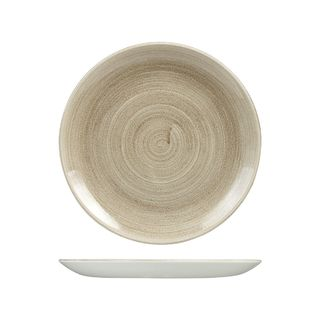 Picture of Stonecast Patina Taupe Round Coupe Plate 260mm
