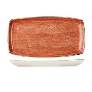 Picture of Stonecast Rectangular Plate 295 X 150mm Spiced Orange